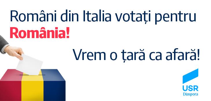 Români din Italia, votați pentru România!