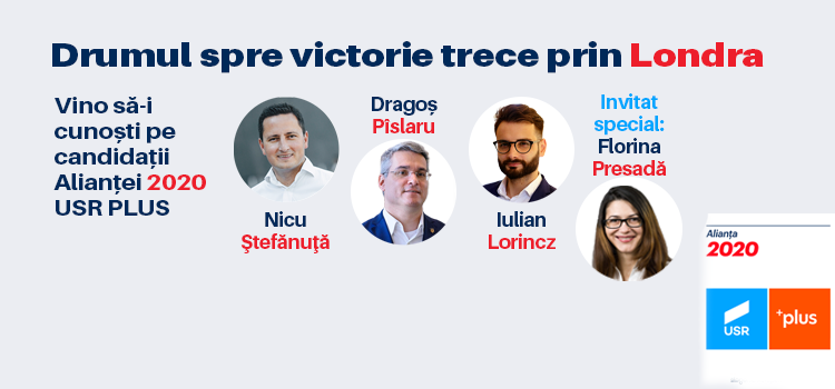 Candidații  Alianței 2020 USR-PLUS dialoghează cu românii din Marea Britanie.