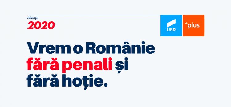 Vrem o Românie fără penali și fără hoție