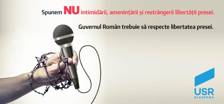 Guvernul PSD trebuie să respecte libertatea presei