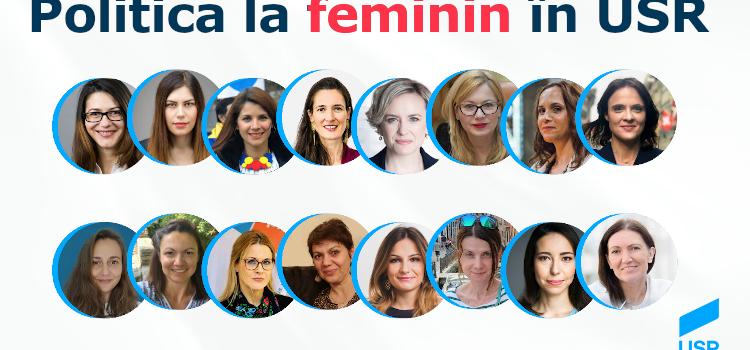 Cum arată politica la feminin în USR?