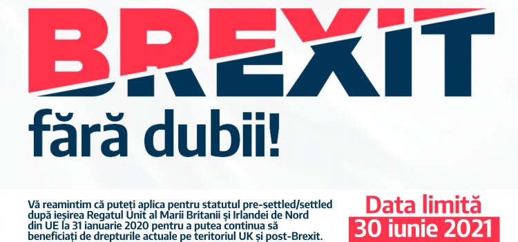 BREXIT fără dubii – campanie de informare a românilor din Marea Britanie