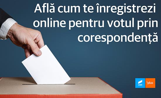 Tutorial înregistrare vot prin corespondență